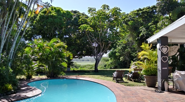 Garden overlooking the St.Lucia Estuary & Pool Area