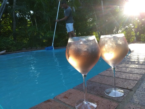 Sunset drinks at the Pool